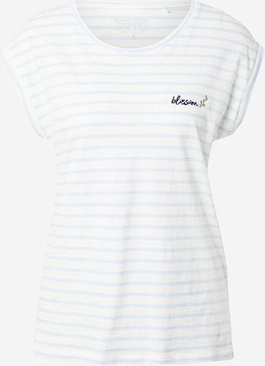 ESPRIT Shirt in pastellblau / offwhite, Produktansicht