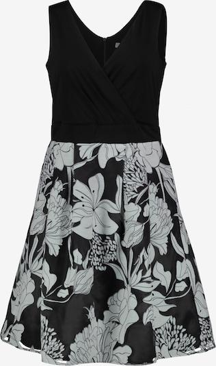 Ulla Popken Cocktailjurk in de kleur Grijs / Zwart / Wit, Productweergave