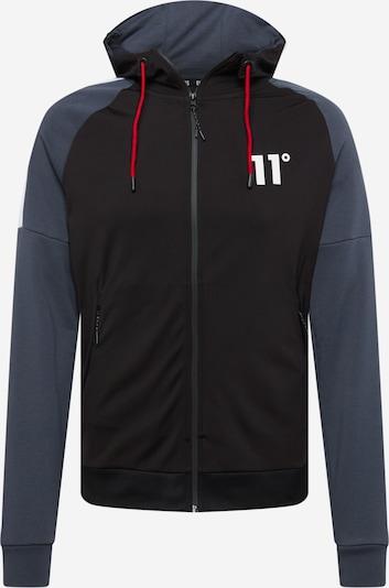 11 Degrees Sweatjacke in royalblau / schwarz / weiß, Produktansicht