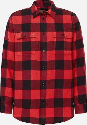 Nudie Jeans Co Hemd 'Gabriel Buffalo' in Rot
