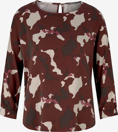 MINE TO FIVE Bluse in beige / rot / schwarz, Produktansicht