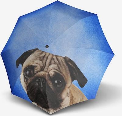 Doppler Parapluie 'Modern Art' en bleu ciel / noisette / gris clair / noir, Vue avec produit