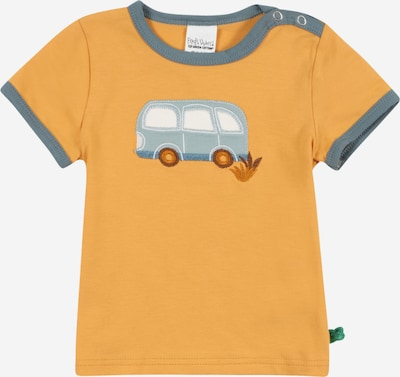 Fred's World by GREEN COTTON Shirt 'Hello bus' in opal / taubenblau / rostbraun / hellorange / weiß, Produktansicht