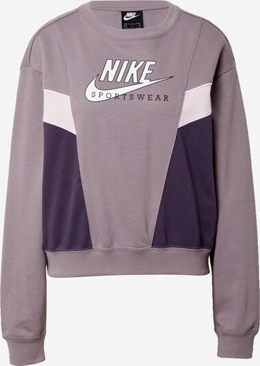 Nike Sportswear Sweatshirt in flieder / dunkellila / weiß, Produktansicht