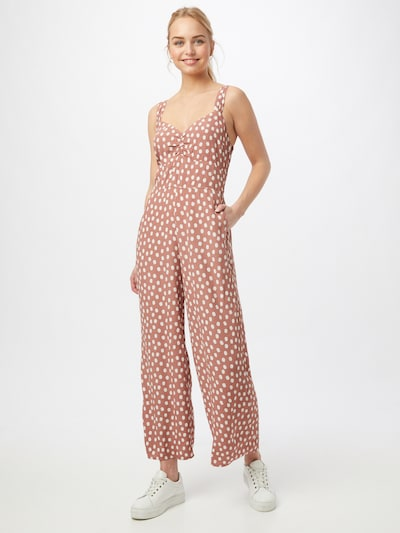 Abercrombie & Fitch Jumpsuit in de kleur Oudroze / Wit, Modelweergave