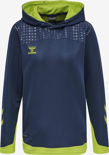 Hummel Sweat de sport 'Poly' en bleu foncé / vert clair, Vue avec produit