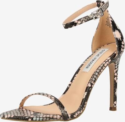 STEVE MADDEN Sandalen in braun / schwarz / weiß, Produktansicht