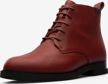 CAMPER Lace-Up Ankle Boots in Red