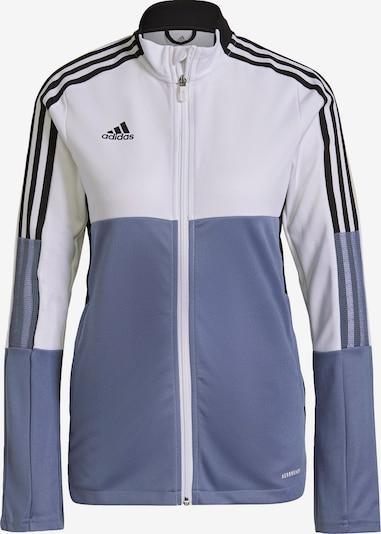 ADIDAS PERFORMANCE Sportska jakna 'Tiro' u golublje plava / crna / bijela, Pregled proizvoda