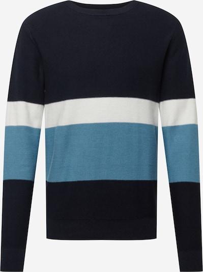 Pulover 'NEW PORT' JACK & JONES pe albastru fumuriu / albastru închis / alb, Vizualizare produs