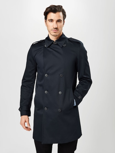 SELECTED HOMME Between-seasons coat 'Sander' in night blue, View model