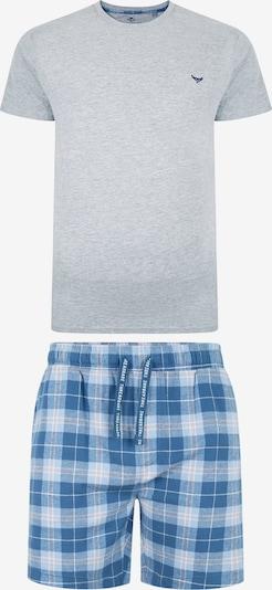 Threadbare Pyjama in blau / grau / weiß, Produktansicht