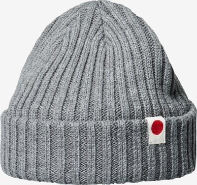 JACK & JONES Mütze in graumeliert / rot / weiß, Produktansicht