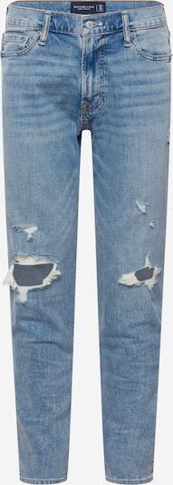 Jeans Abercrombie & Fitch pe albastru denim, Vizualizare produs