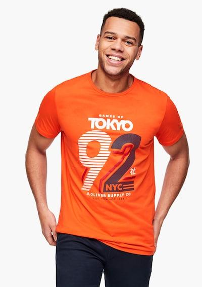 s.Oliver Men Big Sizes Jerseyshirt in orange, Produktansicht