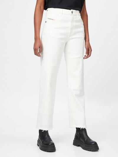 DIESEL Jeans 'D-REGGY' in white denim, Modelansicht