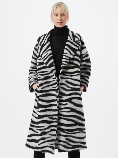 Liebesglück Mantel in grau / schwarz, Modelansicht