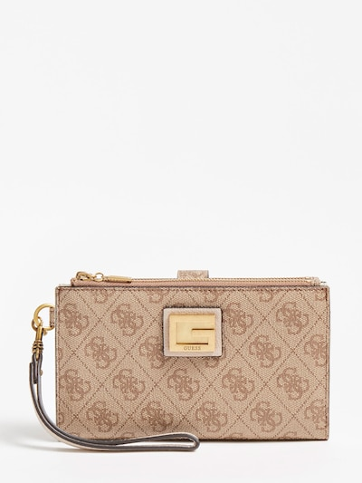 GUESS Portemonnaie in beige, Produktansicht