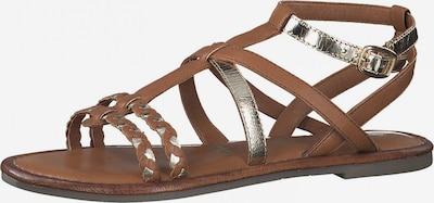 TAMARIS Sandale in braun / platin, Produktansicht