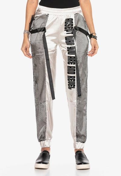CIPO & BAXX Jogginghose in schwarz / silber, Modelansicht