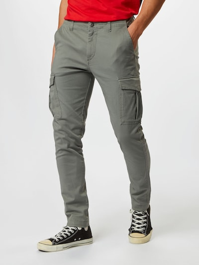 JACK & JONES Pantalón cargo 'MARCO JJJOE AKM SEDONA SAGE' en gris, Vista del modelo