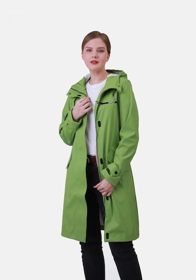 Dingy Rhythm Of The Rain Functionele mantel 'Belle' in de kleur Groen, Modelweergave