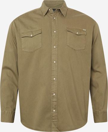 Jack & Jones Plus Triiksärk 'SHERIDAN', värv roheline