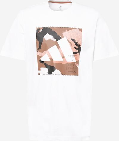 ADIDAS PERFORMANCE Funkčné tričko - hnedá / biela, Produkt