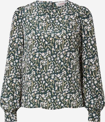 Bluză 'LIMA' Louche pe verde închis / portocaliu / alb, Vizualizare produs
