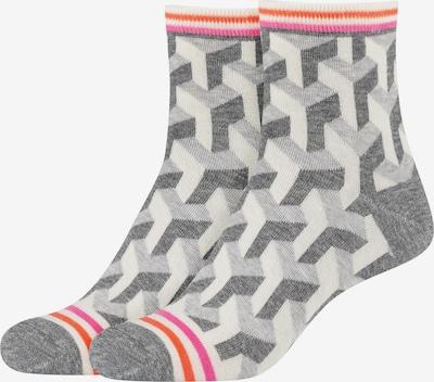 FUN Socks Halbsocken 'Illusion Pattern' in grau, Produktansicht