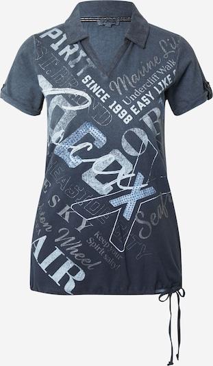 Soccx Poloshirt in dunkelblau / dunkelgrau / weiß, Produktansicht