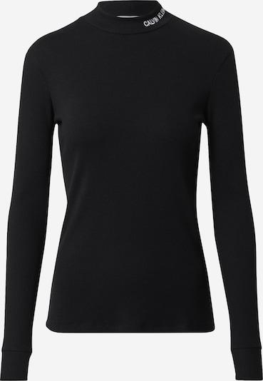 Calvin Klein Jeans Shirt 'MOCK' in schwarz / weiß, Produktansicht