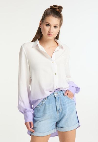 MYMO Hemdbluse in pastelllila / weiß, Modelansicht