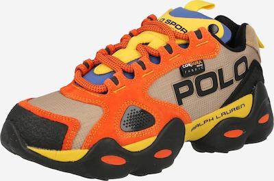 POLO RALPH LAUREN Tenisky 'RLX FAST' - královská modrá / světle hnědá / žlutá / oranžová / černá, Produkt