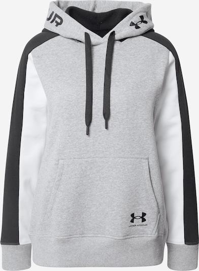 UNDER ARMOUR Sweat de sport 'Rival' en gris chiné / noir / blanc, Vue avec produit