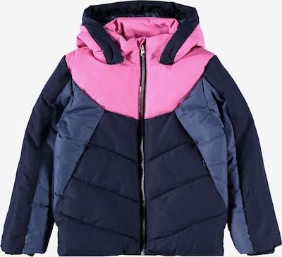 NAME IT Jacke 'Marco' in taubenblau / dunkelblau / pink, Produktansicht