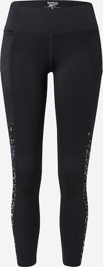 Reebok Sport Sporthose in schwarz / weiß, Produktansicht