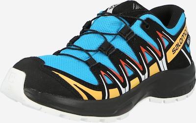 SALOMON Chaussures basses en bleu / jaune / rouge / noir, Vue avec produit