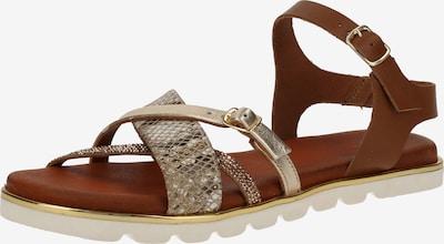 SPM Sandalen in gold / grau, Produktansicht
