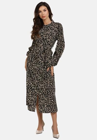 faina Kleid in beige / schwarz, Modelansicht
