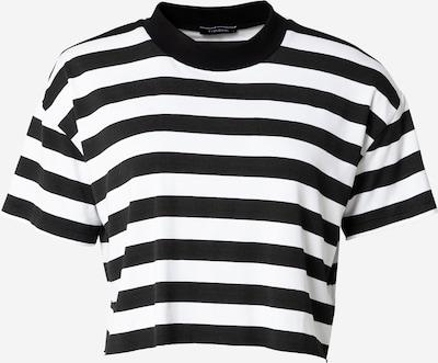 Tricou Trendyol pe negru / alb, Vizualizare produs