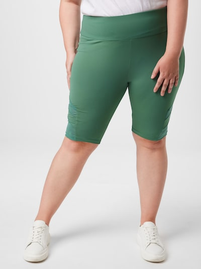 Leggings Urban Classics Curvy pe verde, Vizualizare model