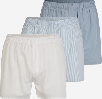 WEEKDAY Boxers 'Kronos' en bleu / azur / blanc, Vue avec produit