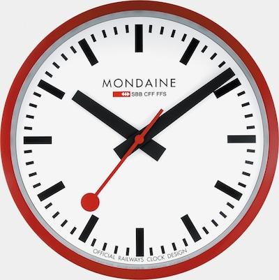 Mondaine Unisex-Wanduhren Analog Quarz ' ' in rot, Produktansicht