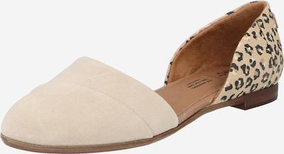 TOMS Bailarina 'JUTTI' en beige / gris / negro, Vista del producto