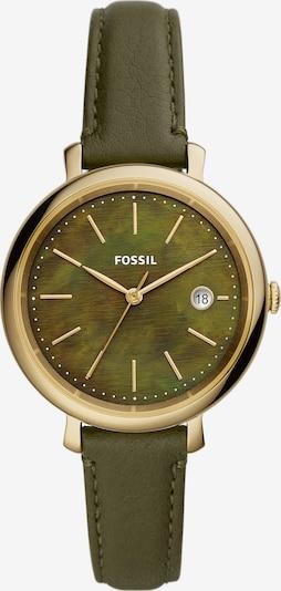 FOSSIL Analog Watch 'Solar' in Gold / Dark green, Item view