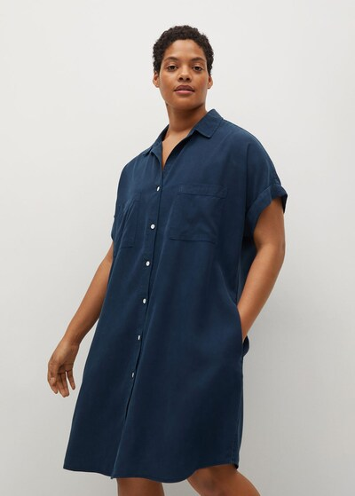 MANGO Kleid 'Uva' in navy, Modelansicht