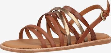 CLARKS Sandale 'Karsea Ankle' in Braun
