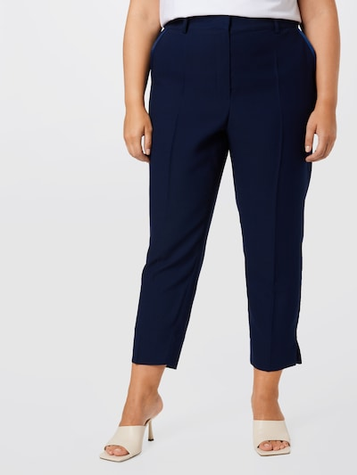 Guido Maria Kretschmer Curvy Collection Pleated Pants 'Maria' in marine blue, View model