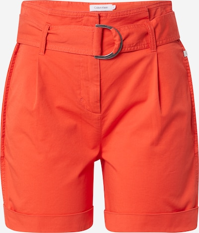Calvin Klein Hlače z naborki | oranžno rdeča barva, Prikaz izdelka